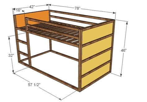 kura bed instructions ana white how to build a fort bed diy projects