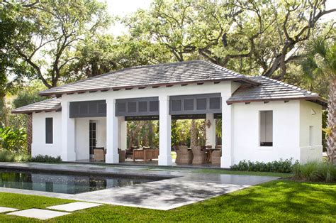 Traditional House Floor Plans by Neoclassical Style Miami Home With Pool Pavilion