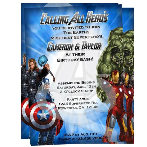 avengers invitations party invitations ideas