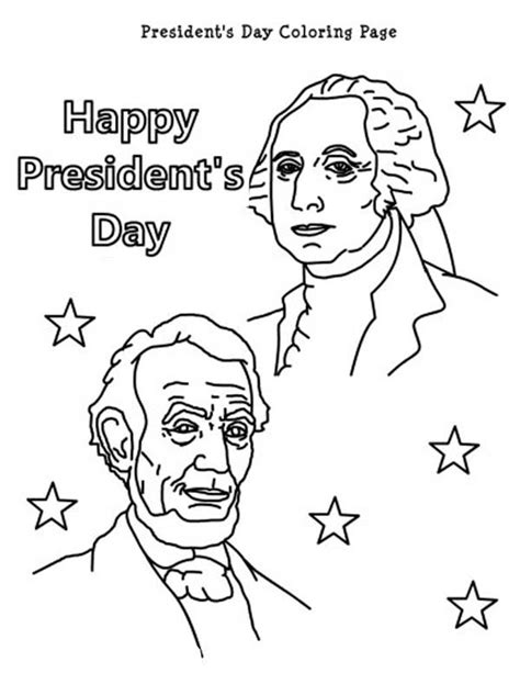 printable coloring pages presidents day happy presidents day with lincoln and washington coloring