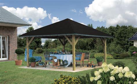 Pavillon Walmdach by Holz Pavillon Offen Mit Walmdach 4 Eck Gartenpavillon