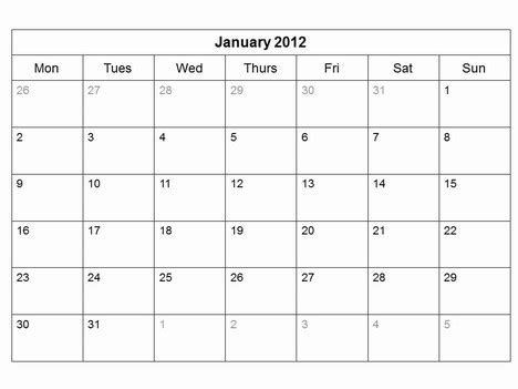 Templates Free 2012 by Free 2012 Monthly Calendar Template
