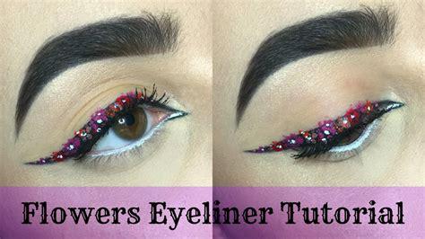 Eyeliner Flower flowers eyeliner tutorial wycon liquid lipstick nyx