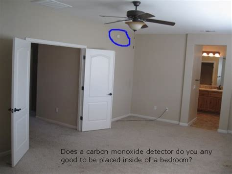 where to put smoke detector in bedroom where not to install a carbon monoxide detector