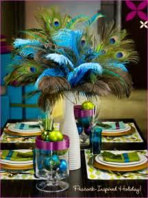 Peacock themed wedding centerpieces peacock themed wedding