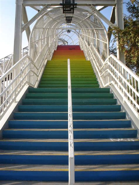 outdoor staircase design beautiful effect rainbow stairs design pictures