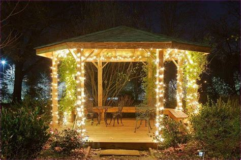 gazebo string lights outdoor gazebo string lights pergola design ideas