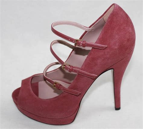 gucci high heel auth 795 gucci suede high heel pumps shoes 37 ebay
