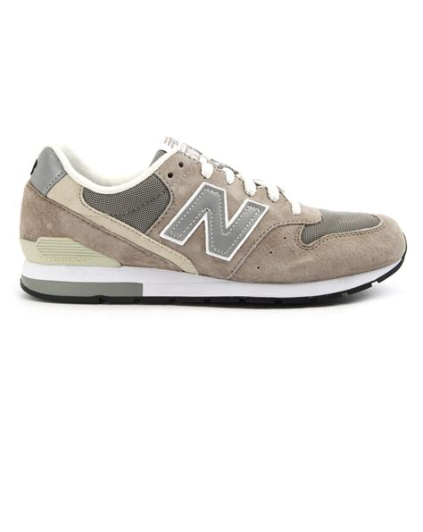 gray new balance sneakers new balance mrl 996 grey suede sneakers in gray for