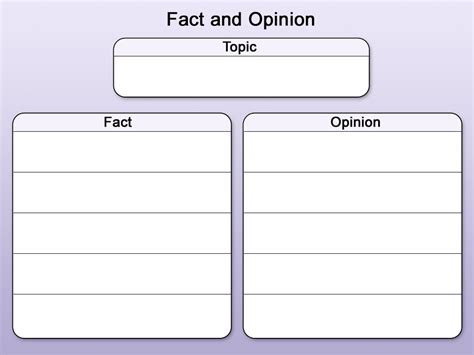 Opinion Template template fact and opinion rm easilearn us