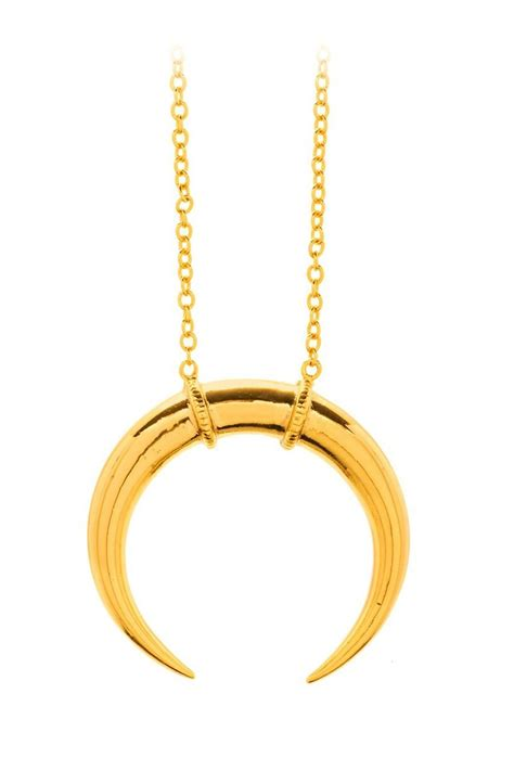 crescent pendant necklace gorjana crescent pendant necklace from new york by lola