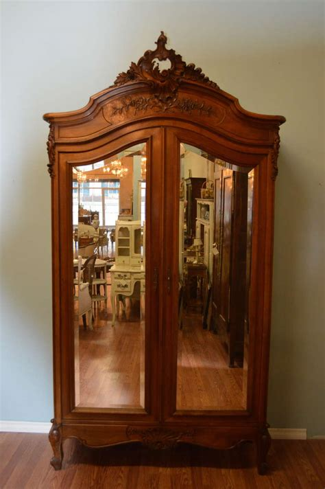 door armoire louis xv style two door walnut armoire at 1stdibs