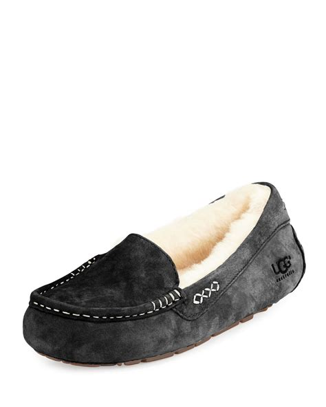 ugg slippers moccasins ugg ansley moccasin slipper in black