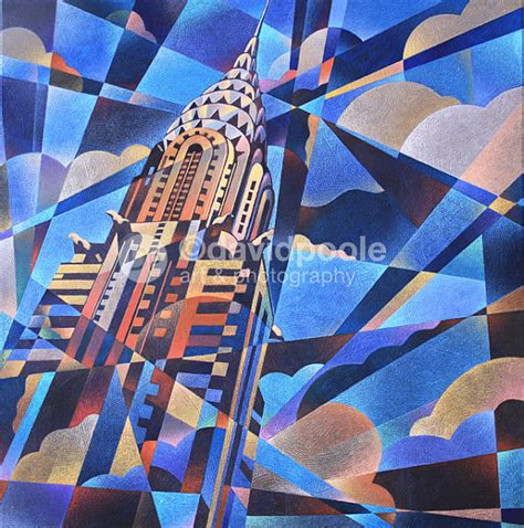 building painting chrysler building art deco abstract by davidpooleartphoto