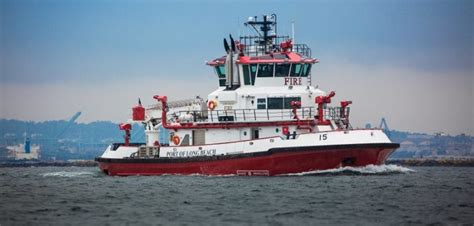 fire boat tour port of long beach commissions second foss built fireboat