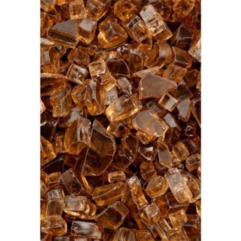Fireplace Glass Rocks Home Depot by Firecrystals 15 Lbs Copper Reflective Premier Glass