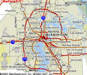 jacksonville map and weather report