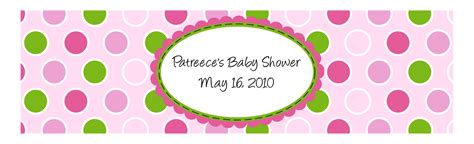 pics for gt baby shower water bottle label template
