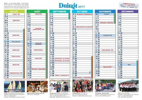 Calendrier 2017 Une Page Calendrier 2017 Du Comit 233 Des F 234 Tes De Duingt Bouchons 74