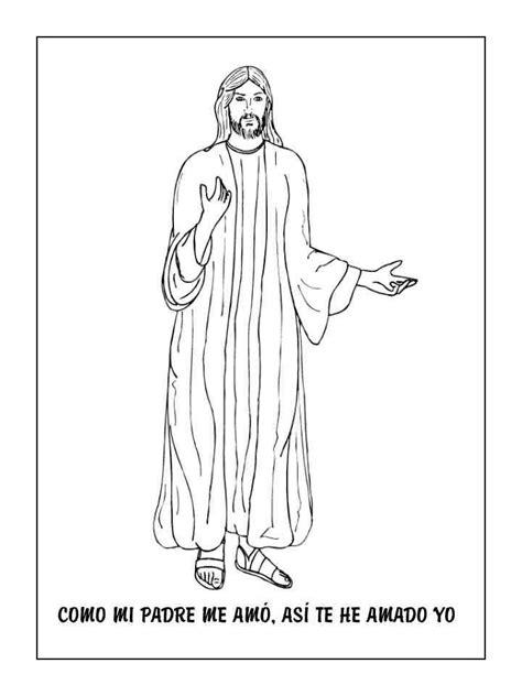 imagenes para colorear jesus y los niños dibujo de jes 250 s para colorear dibujos cristianos para