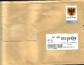 Beschriftung Warensendung by Philaseiten De Privatpost In Deutschland