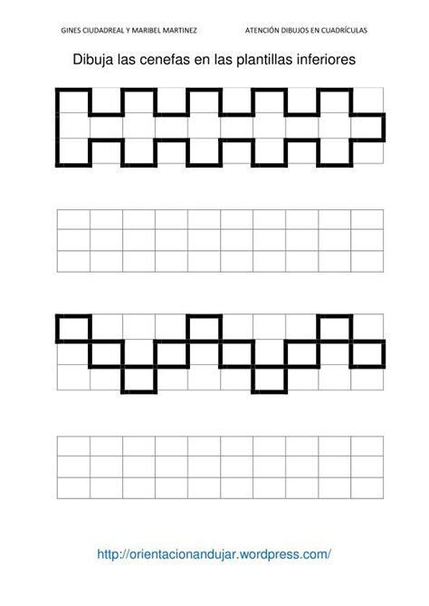 cenefas en cuadricula fichas de atenci 243 n dibujamos en cuadr 237 culas cenefas