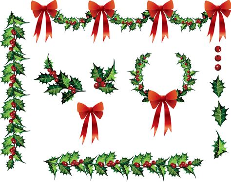 Christmas holly garland clip art today s update