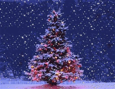 imagenes de navidad brillantes animadas immagine natalizia albero di natale con neve che scende