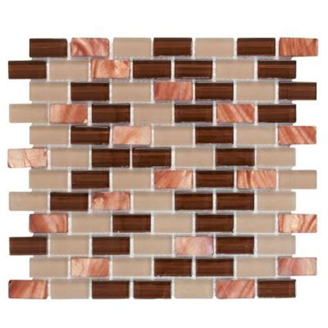 Home Depot Brick Tile by Jeffrey Court Bronze Shell Brick 10 5 In X 12 5 In X 8