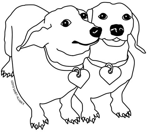 coloring pictures of small dogs dachshund clipart coloring page pencil and in color