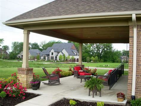 Rear Patio Designs Covered Back Porches Flauminc