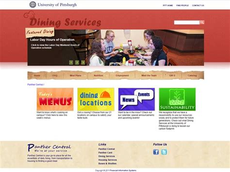 Portfolio L Post by Mike Lavella Dining Services Website