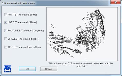 pointor point list convertor with dxf input and output how to create a surpac file from a dxf file
