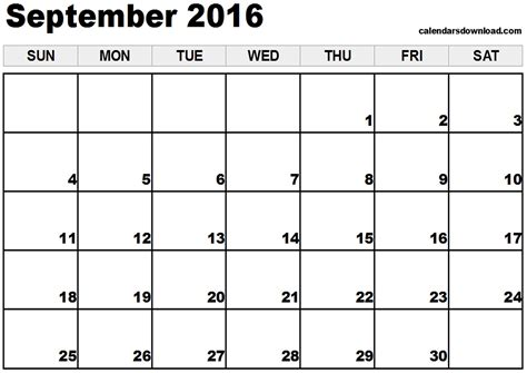 printable calendar 2016 july august september september 2016 calendar