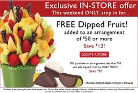 ediblearrangements.com coupons: delivery discount, free