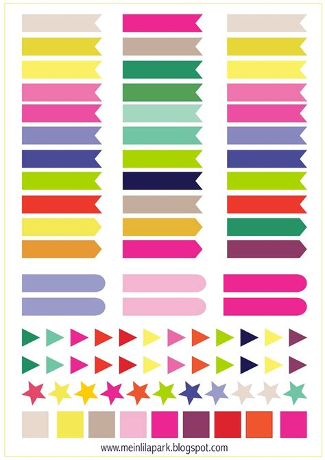 printable planner markers free printable calendar planner flags and markers
