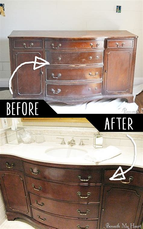 convert dresser into vanity 50 clever diy furniture hacks that everyone needs to know