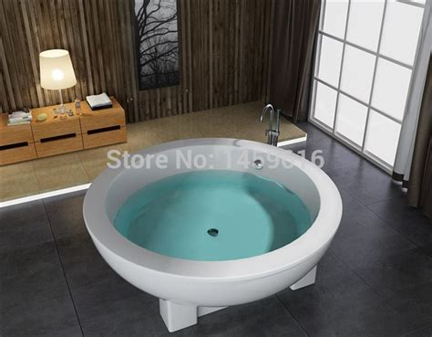 freestanding round bathtub online get cheap round soaking tubs aliexpress com