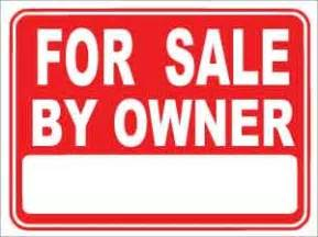 For Sale By Owner For Sale By Owner Plastic Sign
