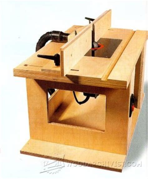 Diy Router Table Top by Bench Mounted Router Table Plans Woodarchivist