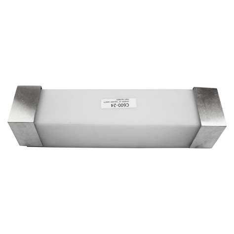 shaper 24 quot square interior wall vanity 600 24 brushed