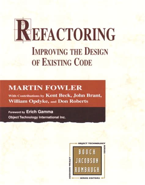 out of the fowler s snare books book review refactoring by martin fowler dominik s