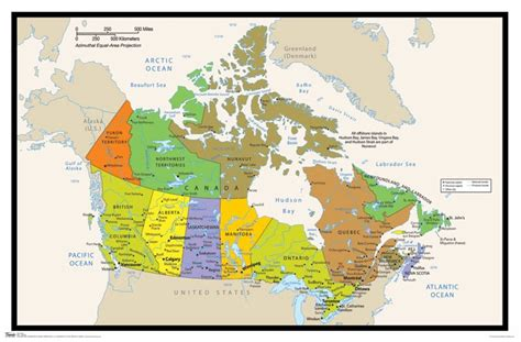 canada foliage map canada map colors 22x34 poster ontario alberta