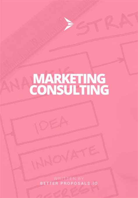 free marketing consulting template better proposals
