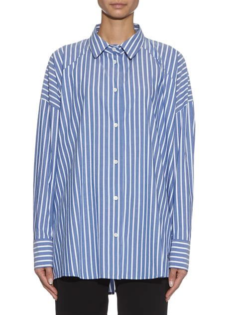 oversize white stripe lyst vivienne westwood anglomania hound striped