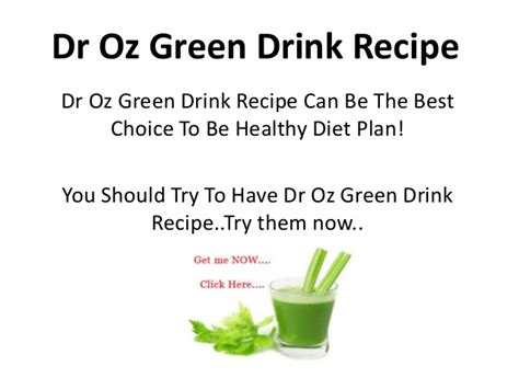 dr ozs favorite superfoods the dr oz show dr oz green drink recipe