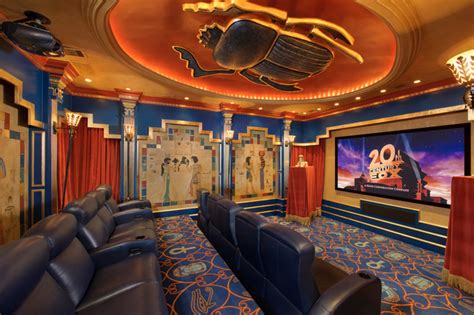 harbor lake home eclectic home theater