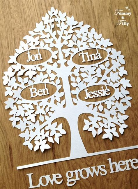 paper cut tree template paper family tree template templates data