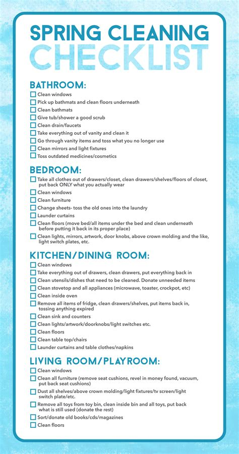 spring cleaning checklist spring cleaning hacks and tips live playfully