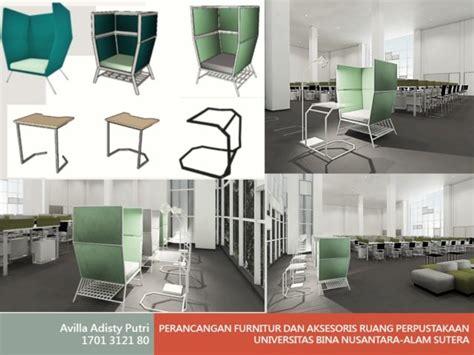 design interior binus perancangan furnitur dan aksesoris ruang perpustakaan